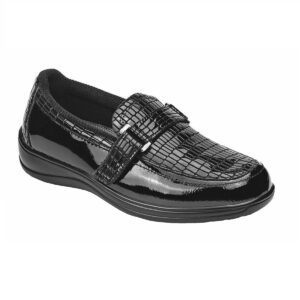 Chelsea Croc – Black Orthopedic Shoes