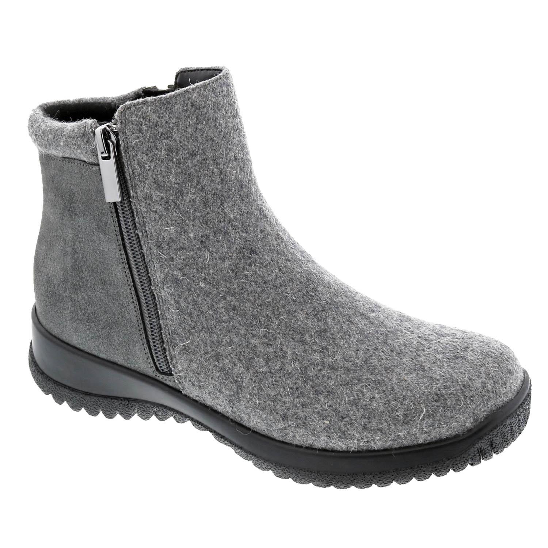 Drew - Kool Grey Suede Flannel Boots