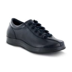 Apex - Liv - Black Leather Lace-Up