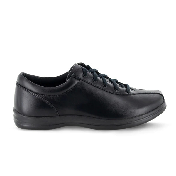 Apex - Liv - Black Leather Lace-Up